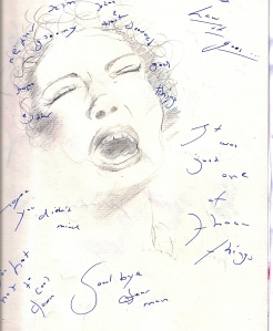 Billie Holiday, pencil